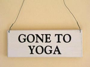 gone to yoga